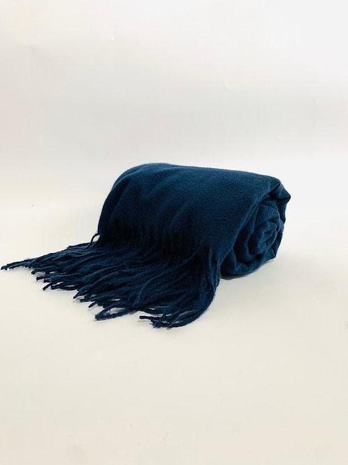 Écharpe femme uni bleu marine hiver