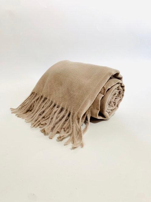 Écharpe femme uni taupe hiver