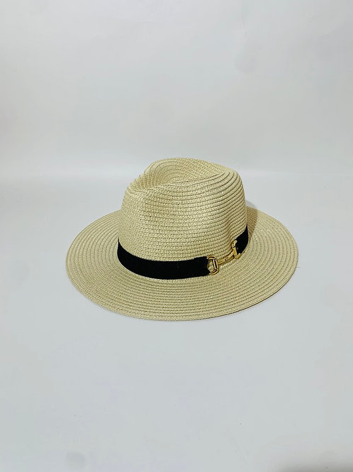 chapeau panama beige crème femme