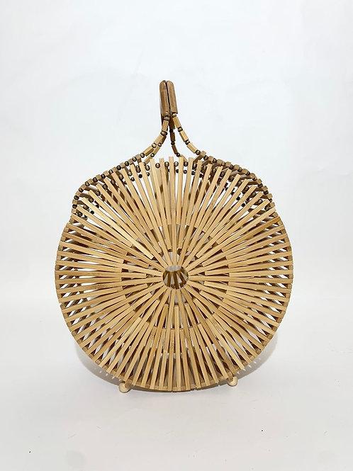 sac bambou rond femme