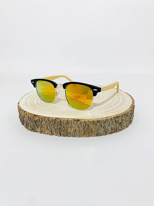 lunettes de soleil mixte homme femme bi-matière bois
