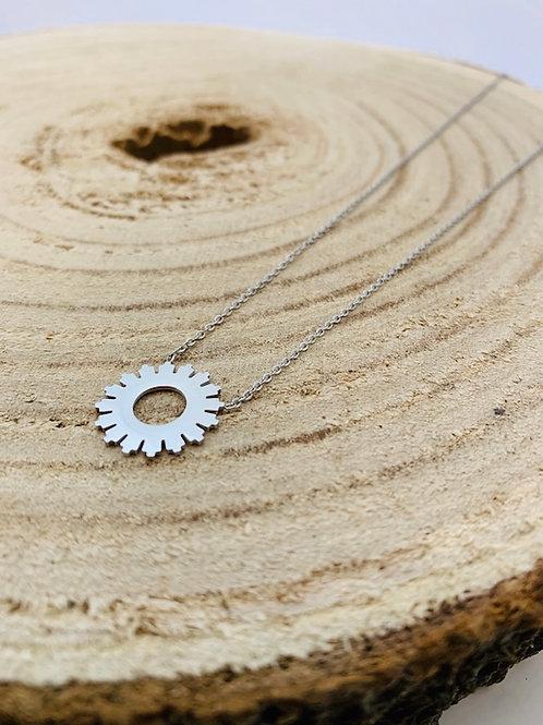 collier motif acier argent blois bijoux