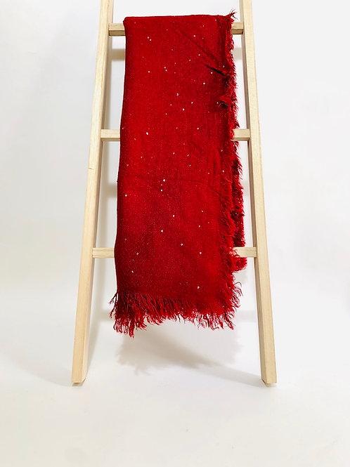 Écharpe sequins rouge femme hiver