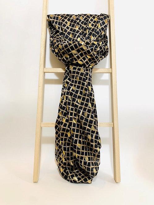 foulard femme noir doré eldorada