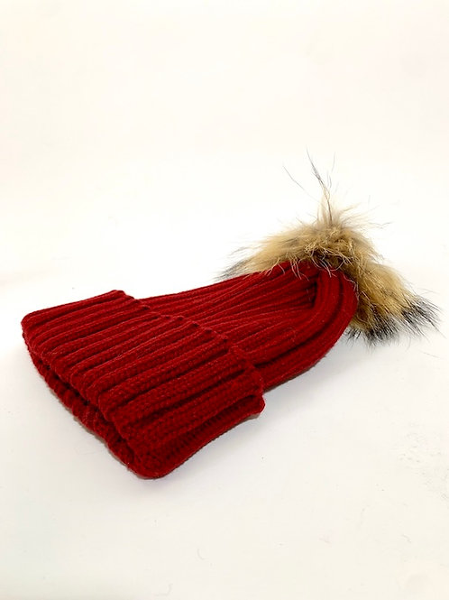 Bonnets pompom rouge