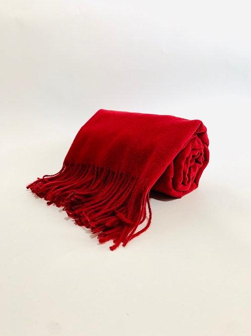 Écharpe femme uni rouge bordeaux hiver