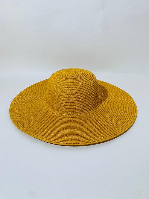 chapeau capeline moutarde femme eldorada