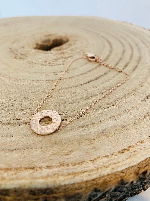 Bracelet acier femme gold rose
