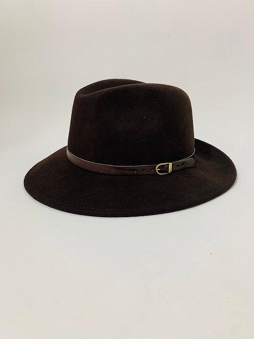 Chapeau feutre laine marron