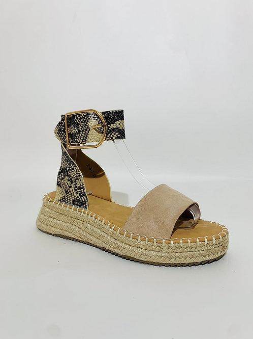 sandale grosse semelle boucle femme été