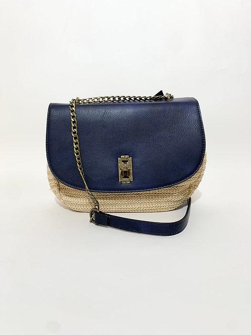 sac bandoulière bleu marine femme