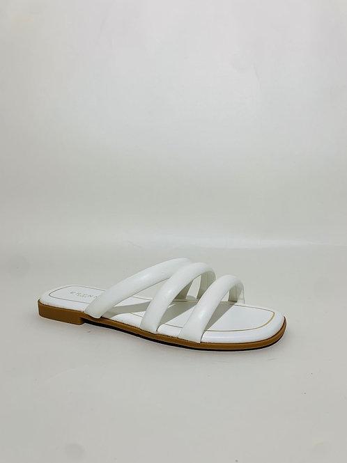 sandales claquettes blanche femme été plage