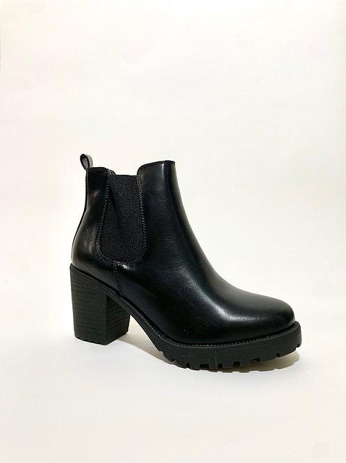 Bottines boots à talon noir chaussures femme eldorada