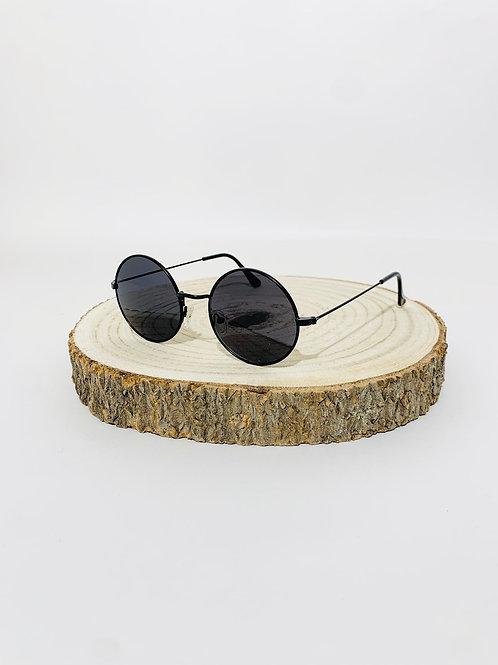 lunettes de soleil ronde noir festival mixte homme femme