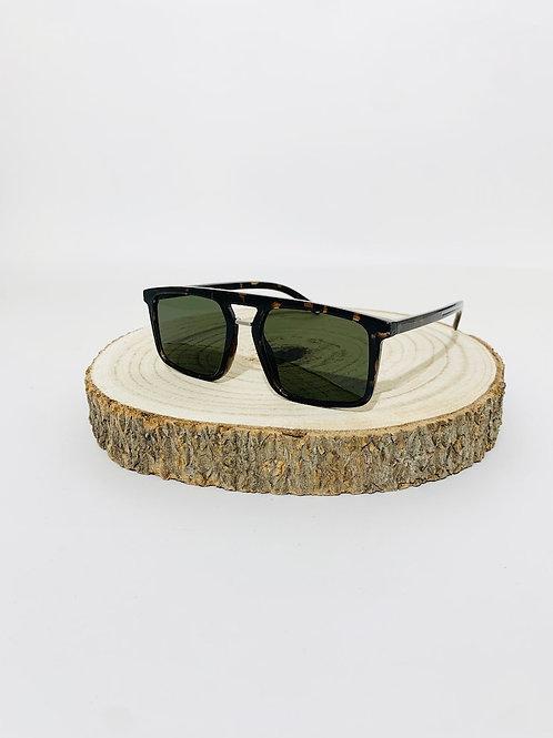 lunettes de soleil mixte turtle verre vert homme femme