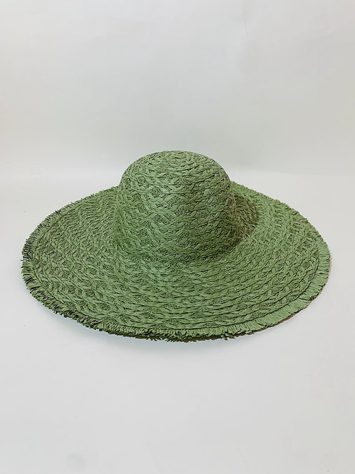 chapeau plage capeline femme vert olive eldorada