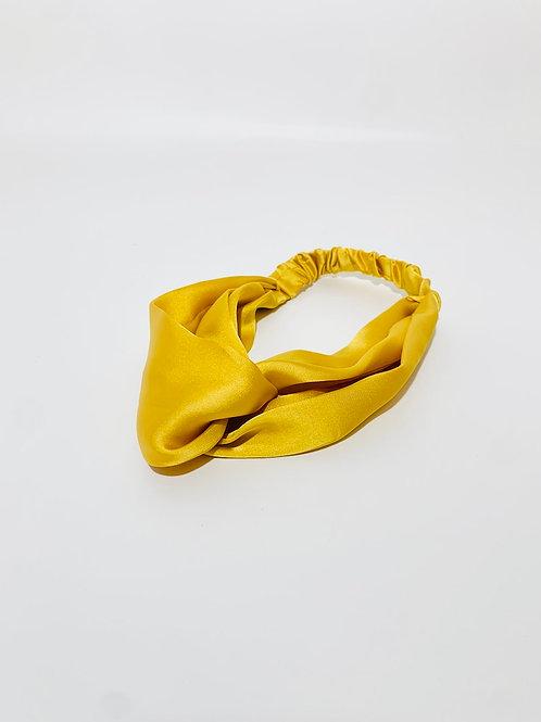 bandeau torsadé jaune été femme