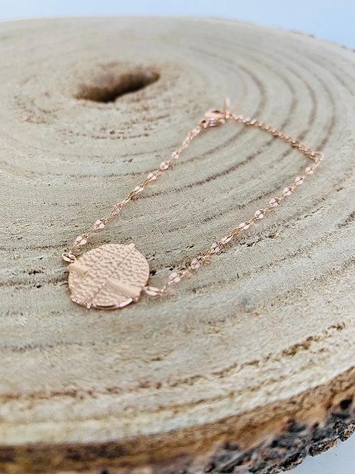 bracelet acier bijoux femme gold rose