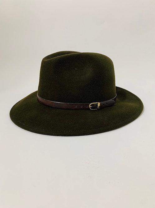 Chapeau feutre laine kaki