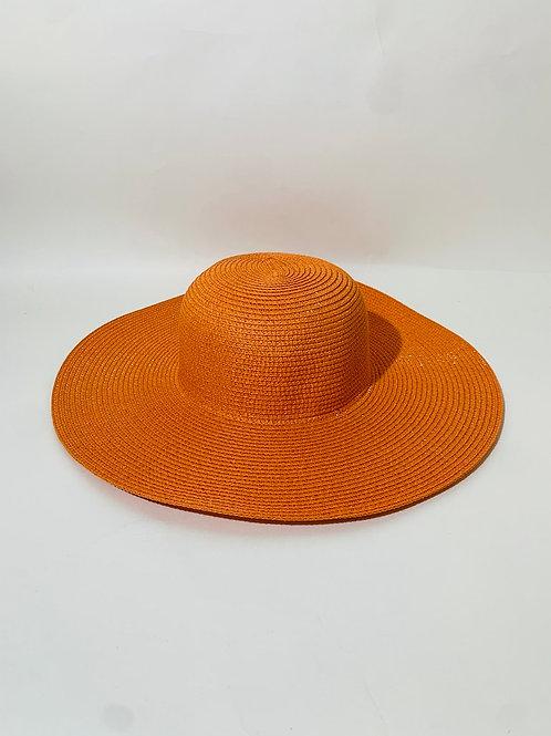 chapeau capeline femme orange