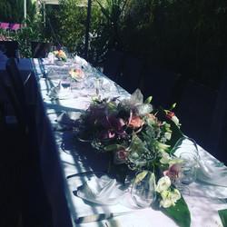 Mise de table pour baptème