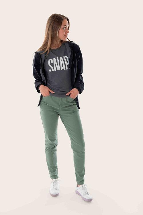 Snap W slim high rise Pants