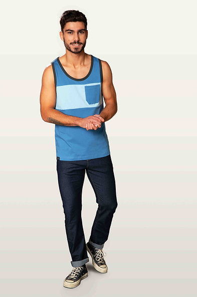 Snap Tanktop two-colored Pocket