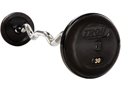 Troy RUFC-R Pro Style Rubber Fixed Curl Bar