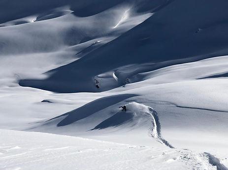 Snowboard Freeride Schattenspiel