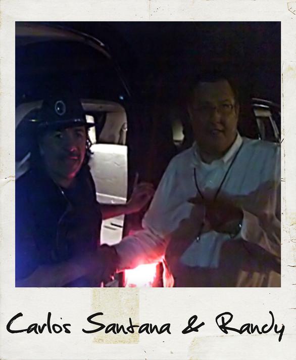 Carlos Santana and Randy