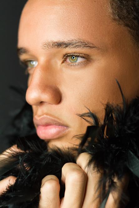 Dominic Jones - Black Feather Boa_IMG_53