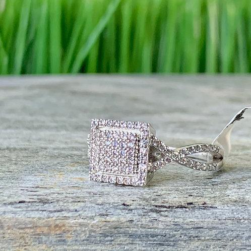 Classic Squared Diamond Ring