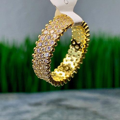 CZ Diamond Tennis Ring