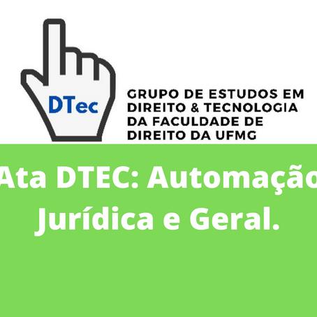 Ata DTEC: Automação Jurídica e Geral.
