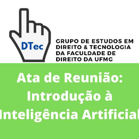 Ata DTEC: Introdução à Inteligência Artificial