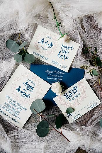 wedding stationery, wedding flatlay, fine art photography, fort lauderdale weddings, wedding invitation inspiration, wedding save the date, custom calligraphy