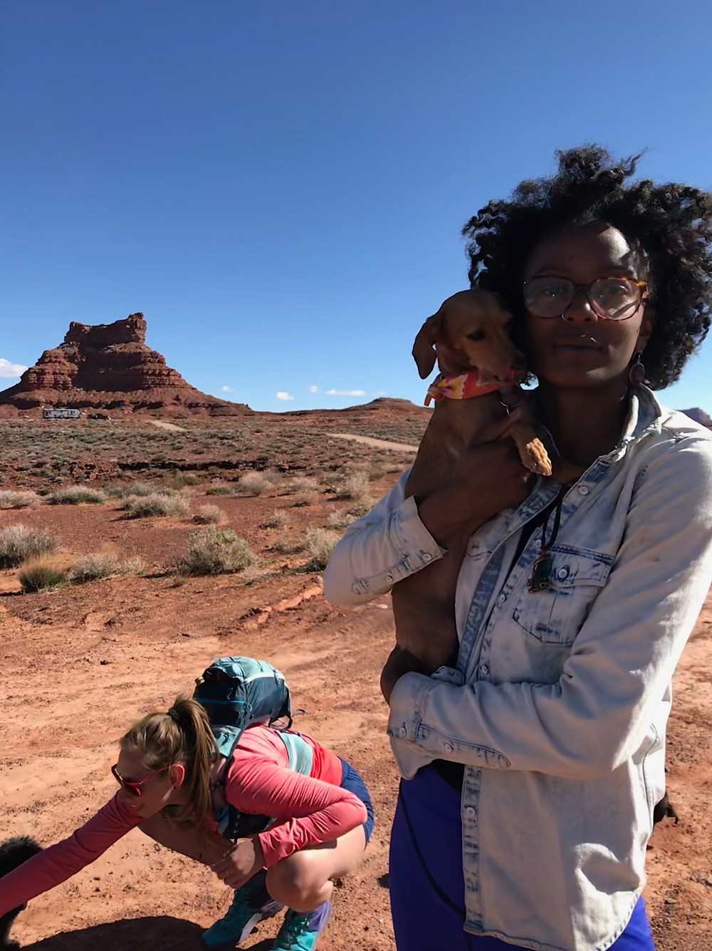 Crazy dog lady camp out in Valley of the Gods