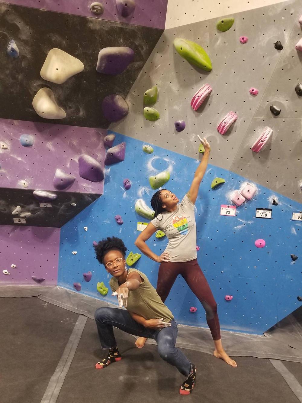 Rock climbing in Baltimore with Britt of BGC