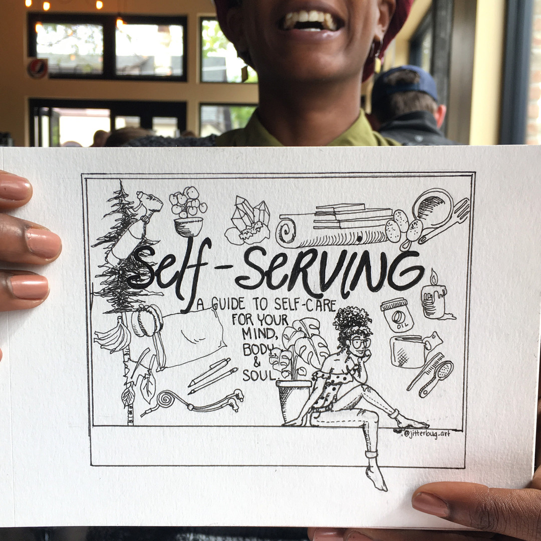 Buy a copy of the Self-Servng Zine in my online shop!