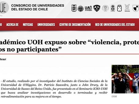 """Académico UOH expuso sobre """"violencia, protestas y los no participantes"""""""