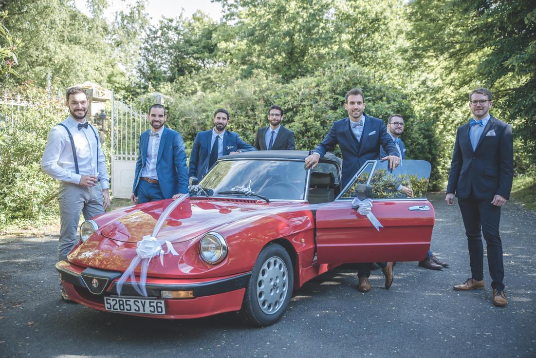 Photo de groupe, garçons d'honneur mariage au manoir de la Bruyère, Le Foeil