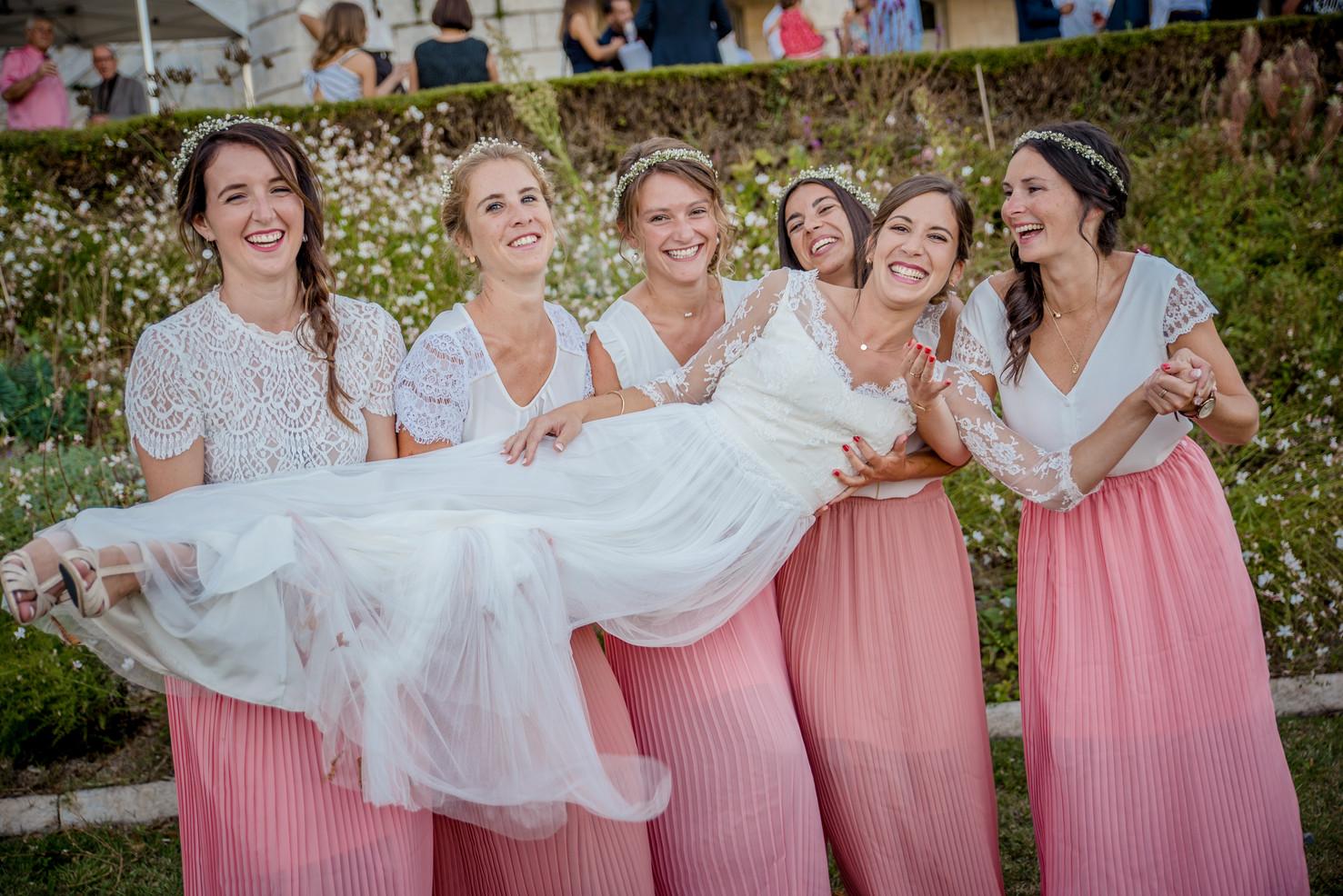 Photo de groupe, garçons d'honneur mariage au château de Fléac