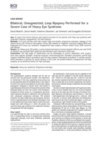 Bilateral, Unaugmented, Loop Myopexy Per
