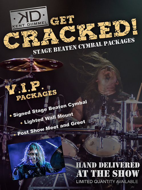 Get Cracked Stage Beaten Cymbal Package - Ozone