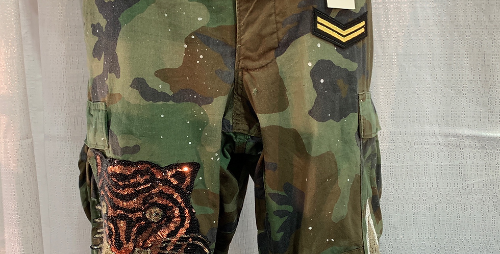 Camo Tiger Patch Pants