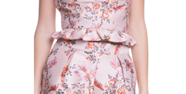 GORGEOUS DUSTY ROSE BUSTIER AND SHORTS SOLD SEPARATELY