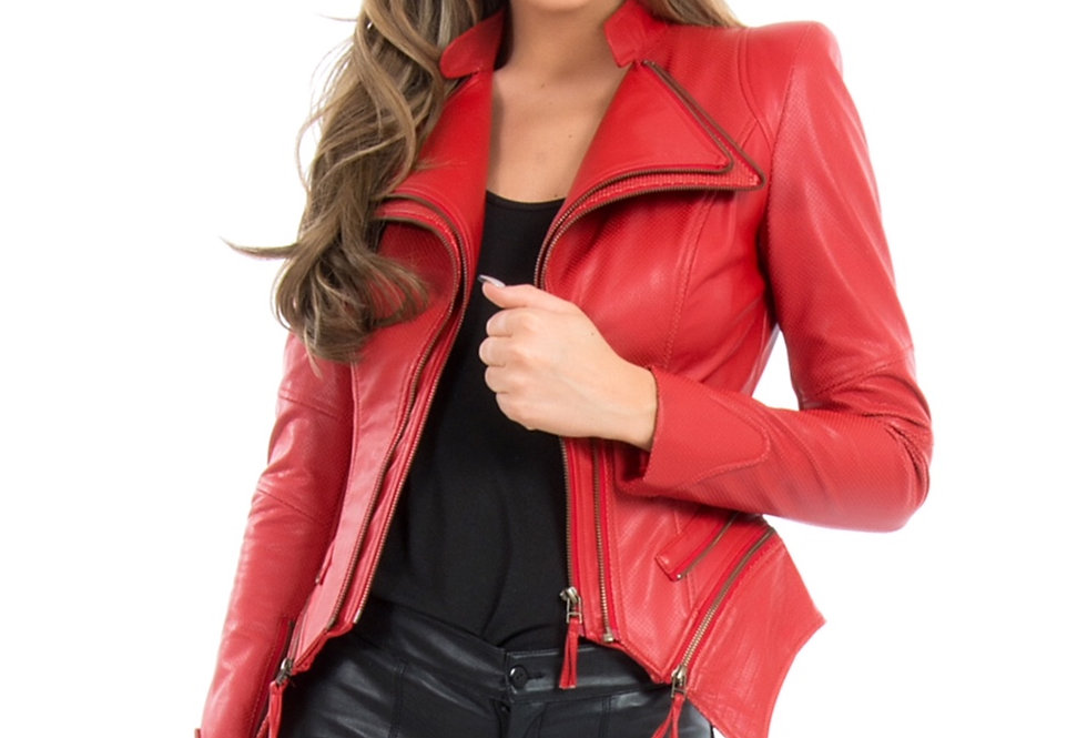 RED PULP FAUX LEATHER JACKET