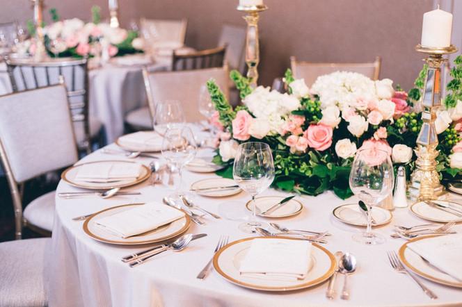 Breathtaking Blush and Gold Wedding Reception