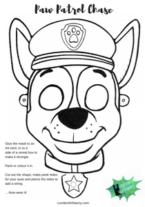graphic relating to Printable Face called Paw Patrol Chase Absolutely free confront mask printable PDF