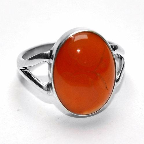 Virgo Carnelian Stone Ring